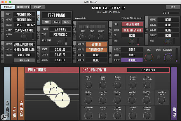 Jam Origin MIDI Guitar 2 Crack v2.2.1 Download Latest Here
